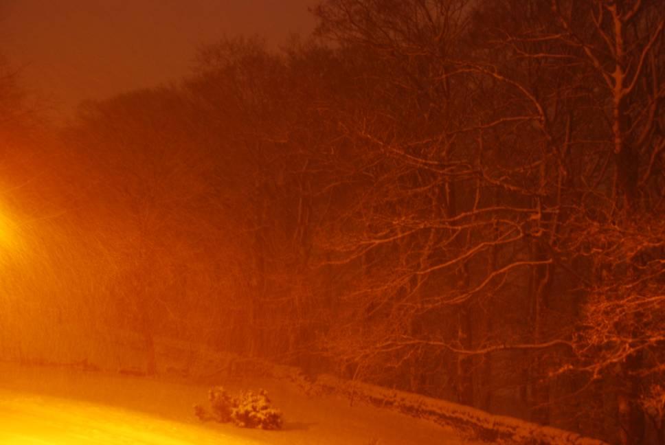Snowing at 2am