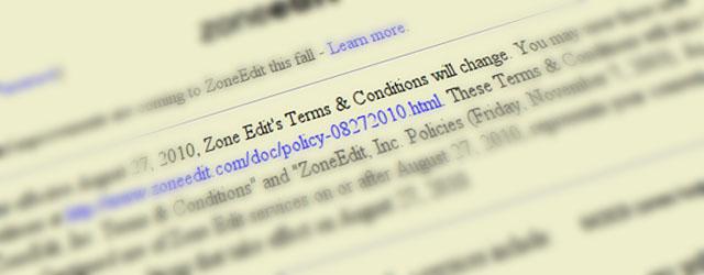 ZoneEdit Heading
