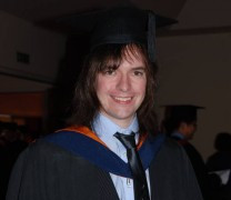 Me at the University of Sunderland graduation ceremony.