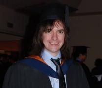Me at the University of Sunderland graduation ceremony.