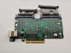 The bottom of the DRAC5 card showing its dedicated Ethernet port