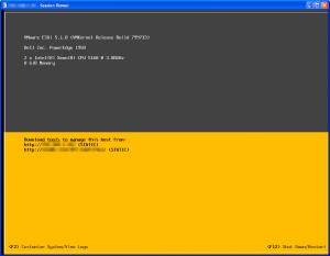 The rather bland looking interface of VMWare ESXi