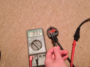 A multimeter reveals the C5 connector to be wired in backwards.