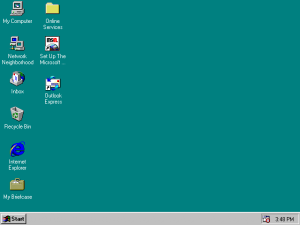 Windows 95 - Many people of my age's first experience with home computing.