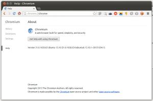 Chromium Browser running on Ubuntu 13.10