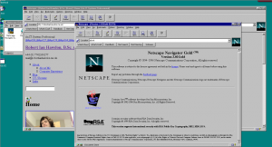Netscape Navigator 2.02 Gold running on Windows NT 4 Server - The browser that introduced NPAPI