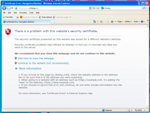 An error message appears when attempting to access websites using SNI on Windows XP