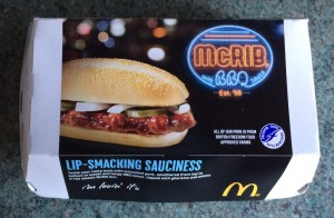 The box for the McRib