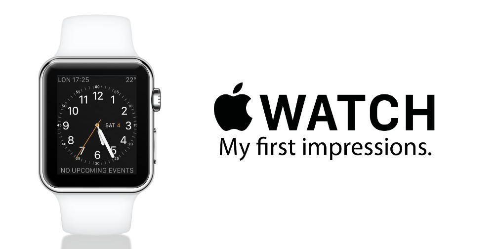 My first week with the Apple Watch