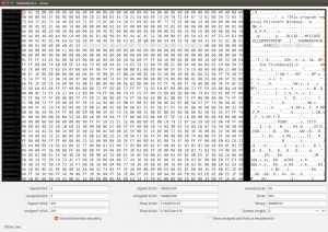 Opening the SENDER.DLL file in a Hex editor.