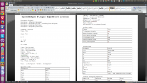 Microsoft Word 2007 with international character support running on WINE
