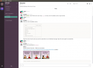An early version of Toonbot in action on my own test Slack account.