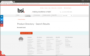 Searching this licence number on the BSI website showing no results.