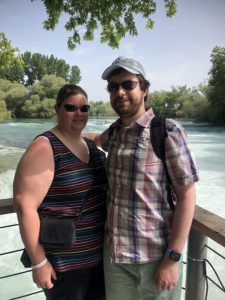 Me and Hayley standing in front of the Manavgat waterfall.